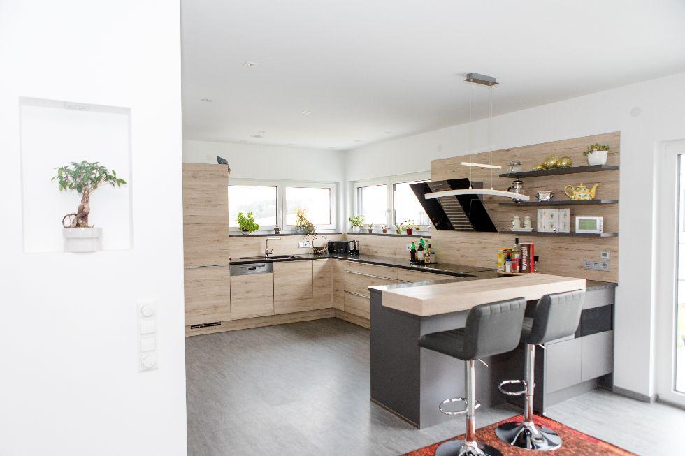 Räumlich abgetrennter Küchenbereich