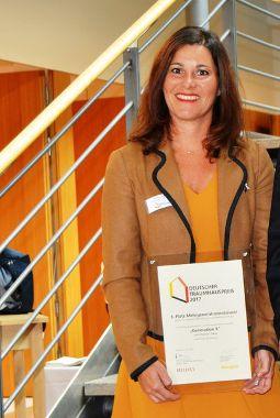 """Barbara Fuchs mit dem """"Deutschen Traumhauspreis 2017"""""""