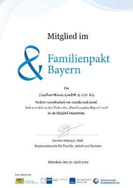 """FischerHaus GmbH & Co. KG ist Mitglied im """"Familienpakt Bayern"""""""