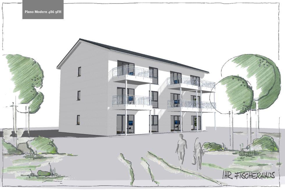 Mehrfamilienhaus Plano Modern 486 9FH