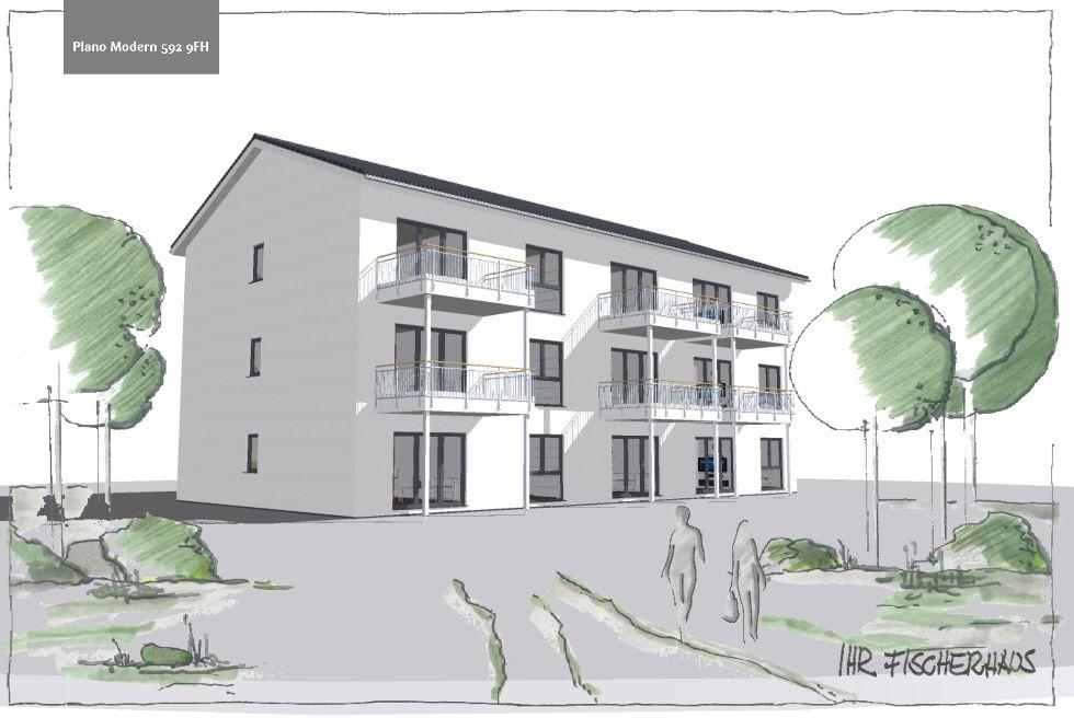 Mehrfamilienhaus Plano Modern 592 9FH