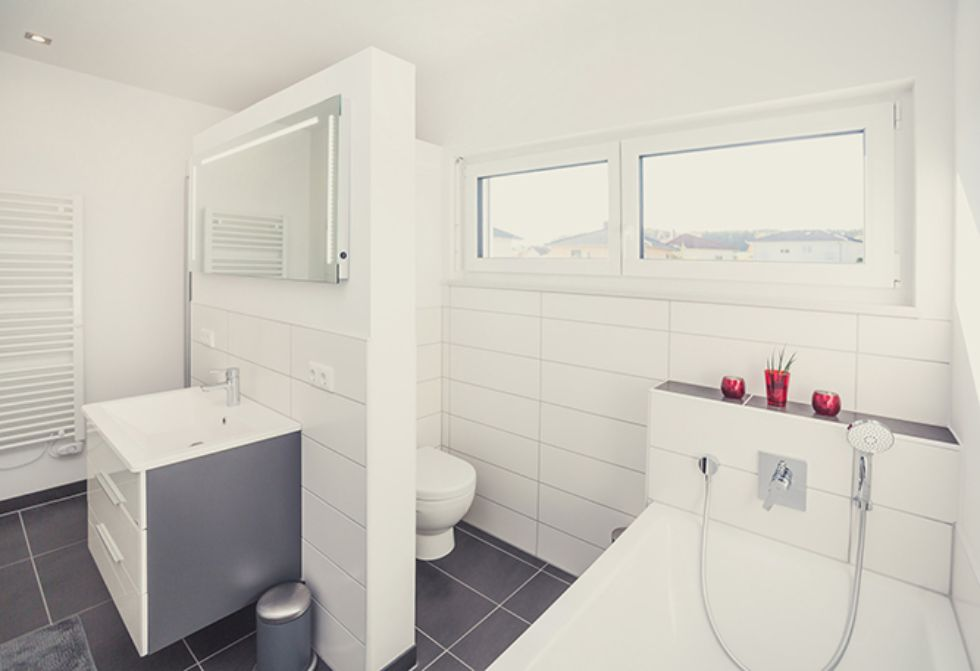 Praktische T-Form-Lösung mit Einzelwaschbecken