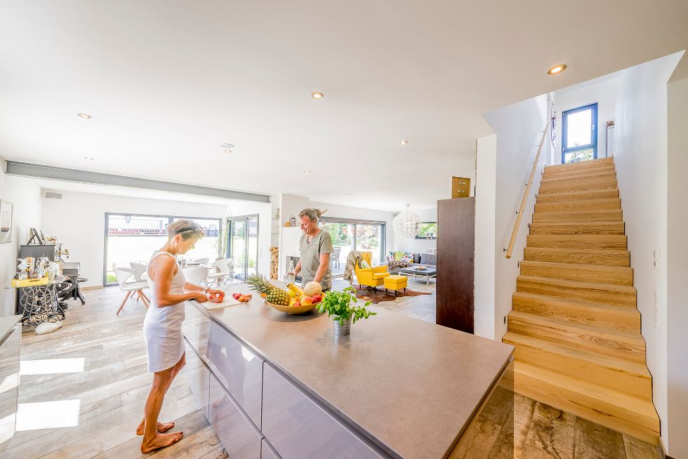 Freistehende Wohnküche