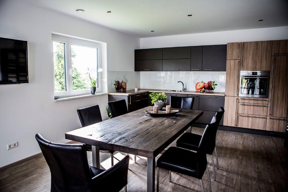 Offene Küche mit Essbereich | FischerHaus: Fertighäuser aus ...