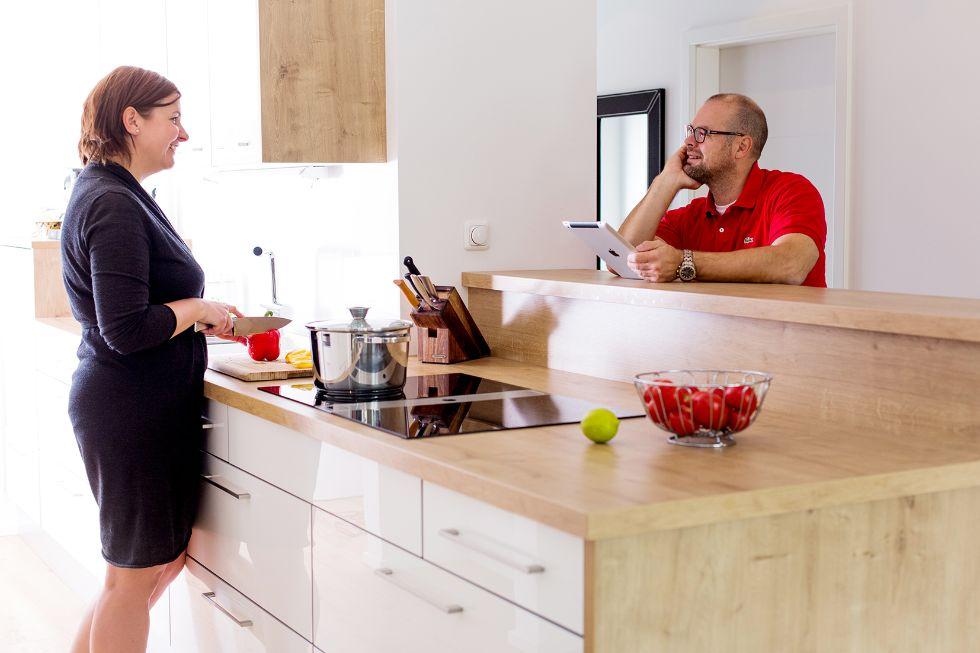 Praktische Küche in L-Form