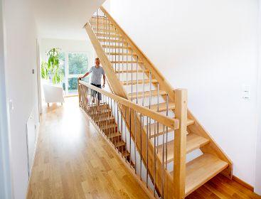 Geradläufige Treppe wünscht euch was treppen fischerhaus fertighäuser aus bayern
